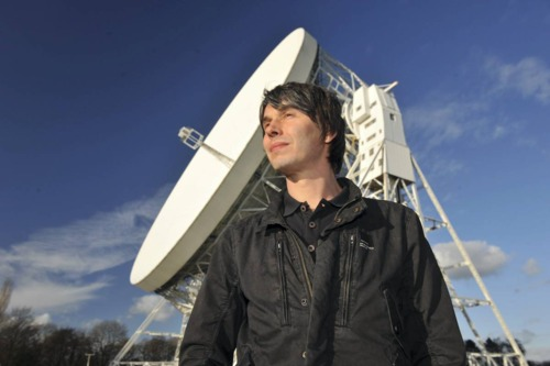 Professor Brian Cox looking wistfully into space