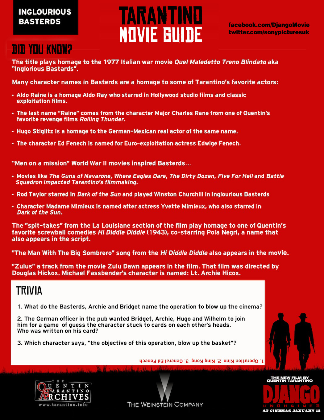 Tarantino Movie Guide - Inglourious Basterds