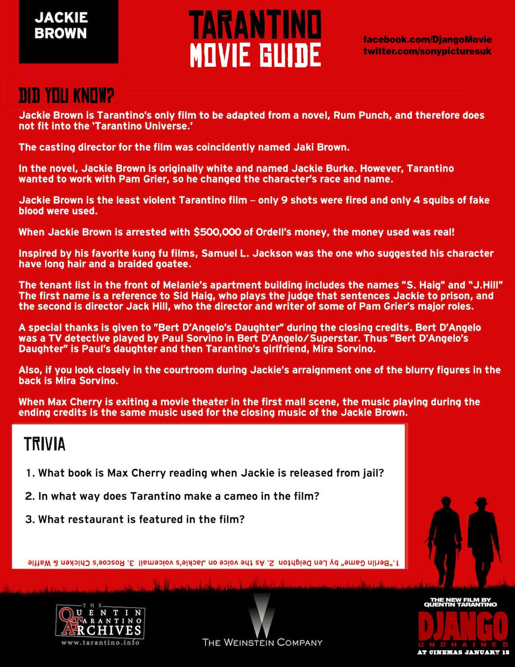 Tarantino Movie Guide – Jackie Brown