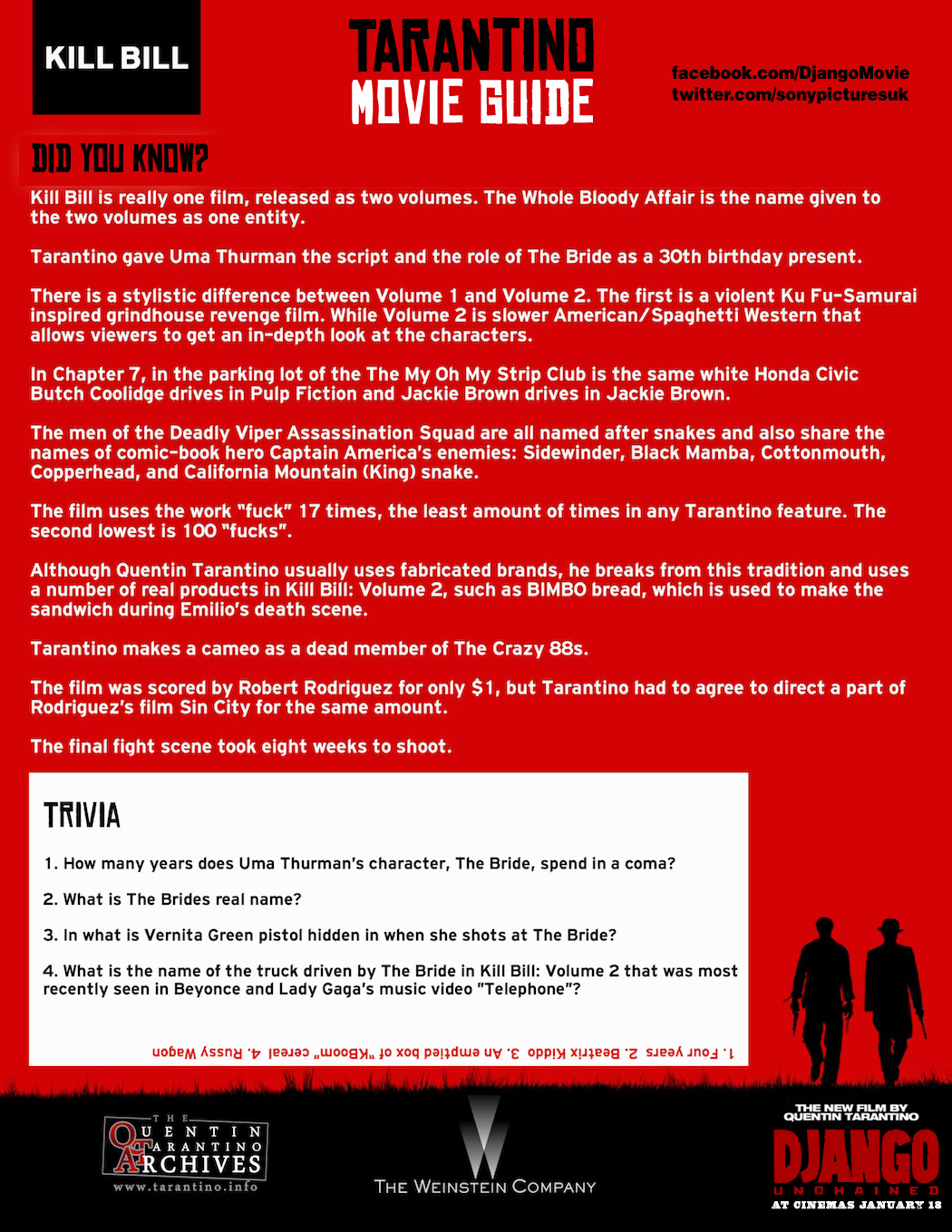 Tarantino Movie Guide - Kill Bill