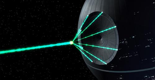 Giant laser death