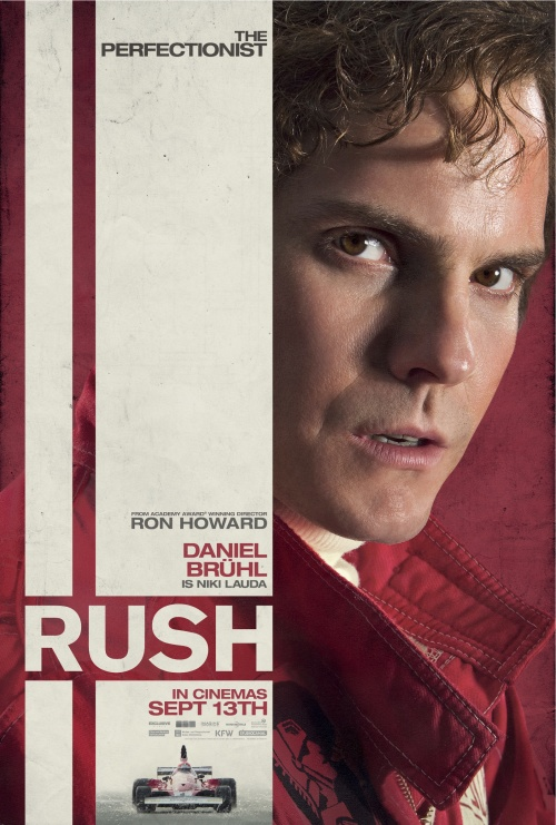 Rush character poster – Daniel Brühl as  Niki Lauda