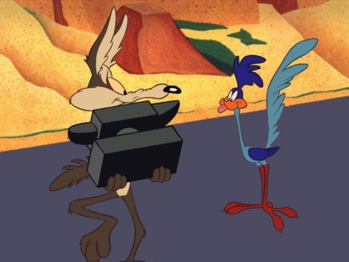 You can hear what the Road Runner is saying and you can picture what's going to happen next