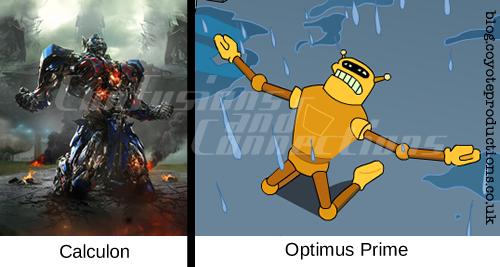 Optimus Prime and Calculon seperated at birth