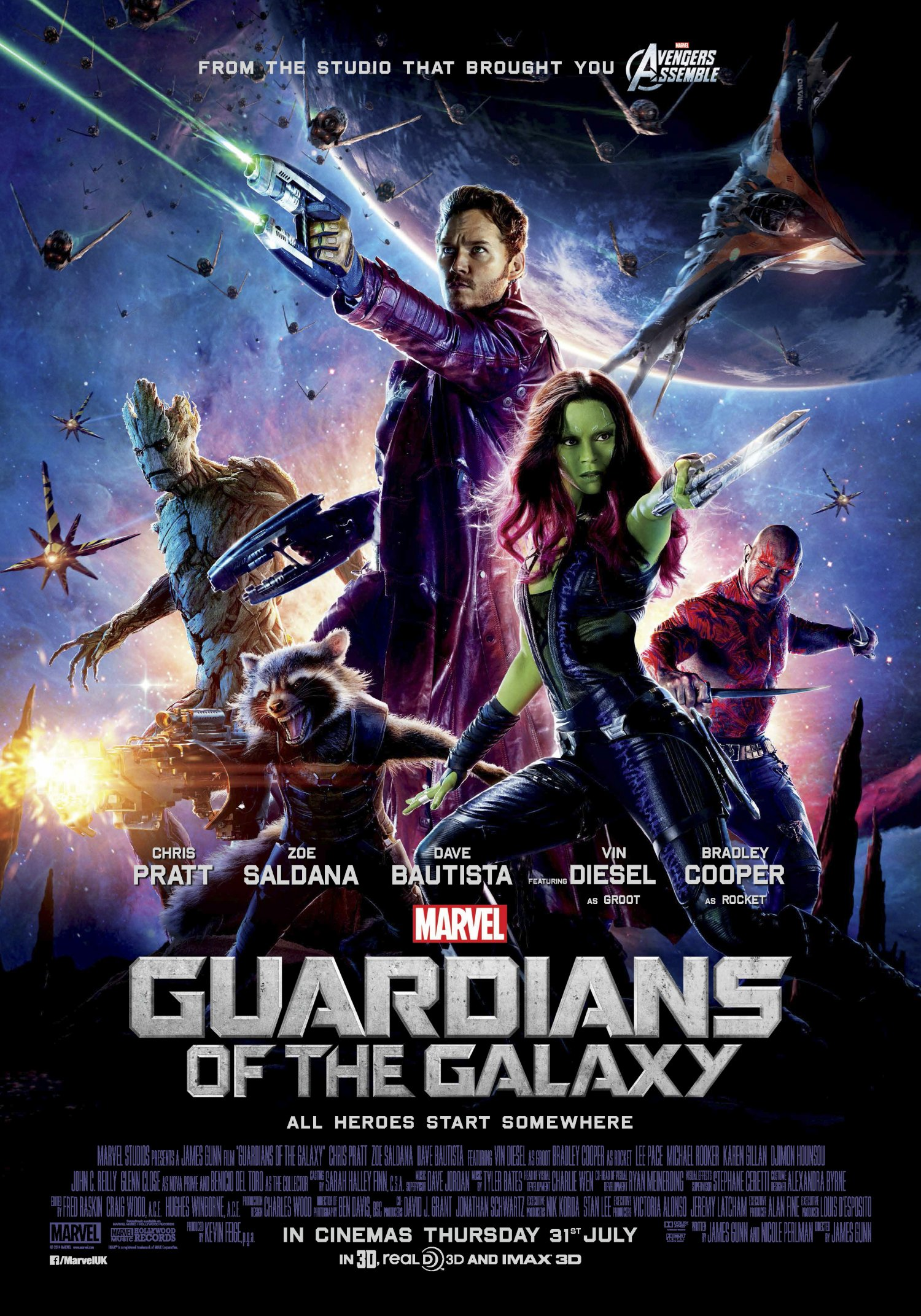 Peter Quill  & Guardians of the Galaxy poster