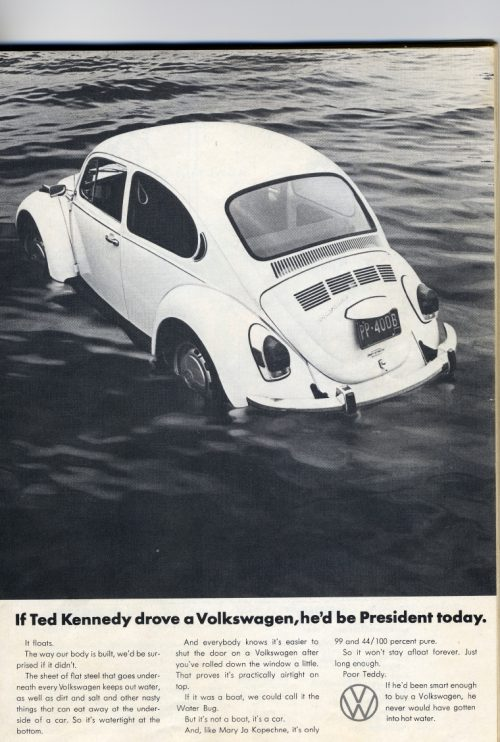 Ted Kennedy beetle parody advert