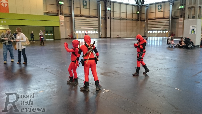 Mini Deadpools at MCM Birmingham Comic Con