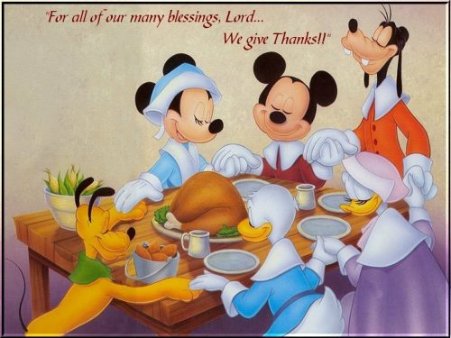 Donald Mickey Miney Pluto Thanksgiving Cannibalism