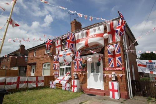 world cup england flags house
