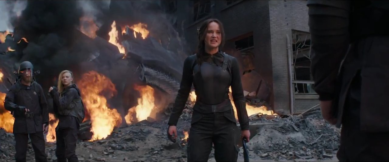 The Hunger Games Katniss threatening