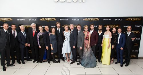 The cast of Mockingjay Part 1 at the World Premiere