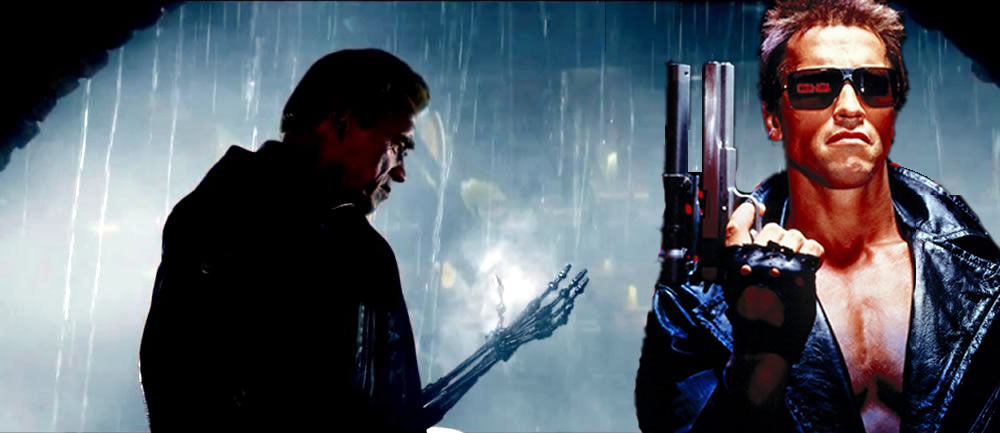 Terminator Drives A Car Into A Police Station Gif