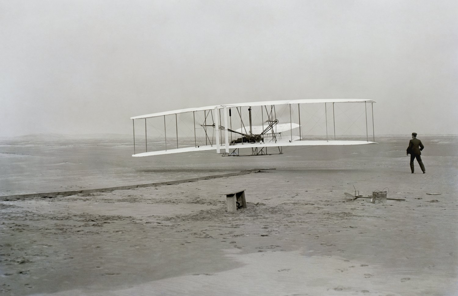 First flight of the Wright Flyer