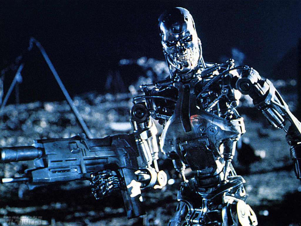terminator robot killing machine – what if robots decided to try and take over the world
