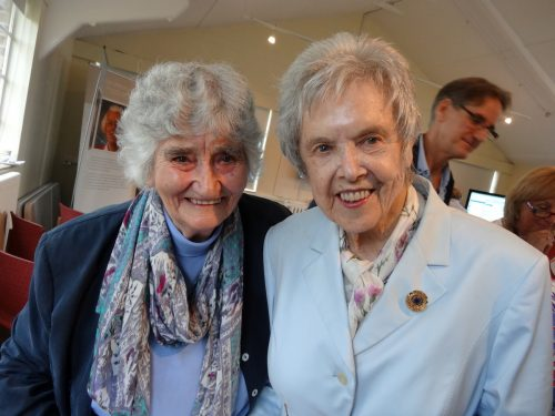 Colossus veterans Irene Dixon and Betty O'Connell  Photo courtesy Phil LeGrand