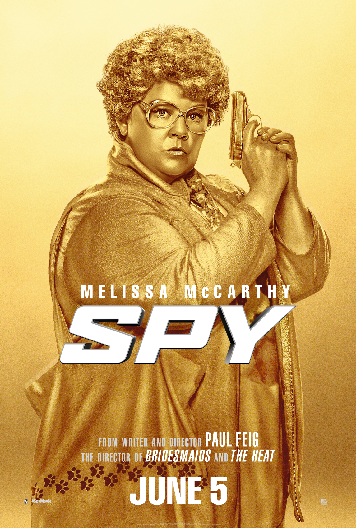 Spy gold poster