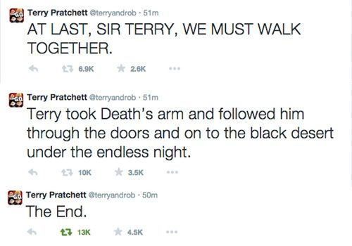 The last tweets of Terry Practchett