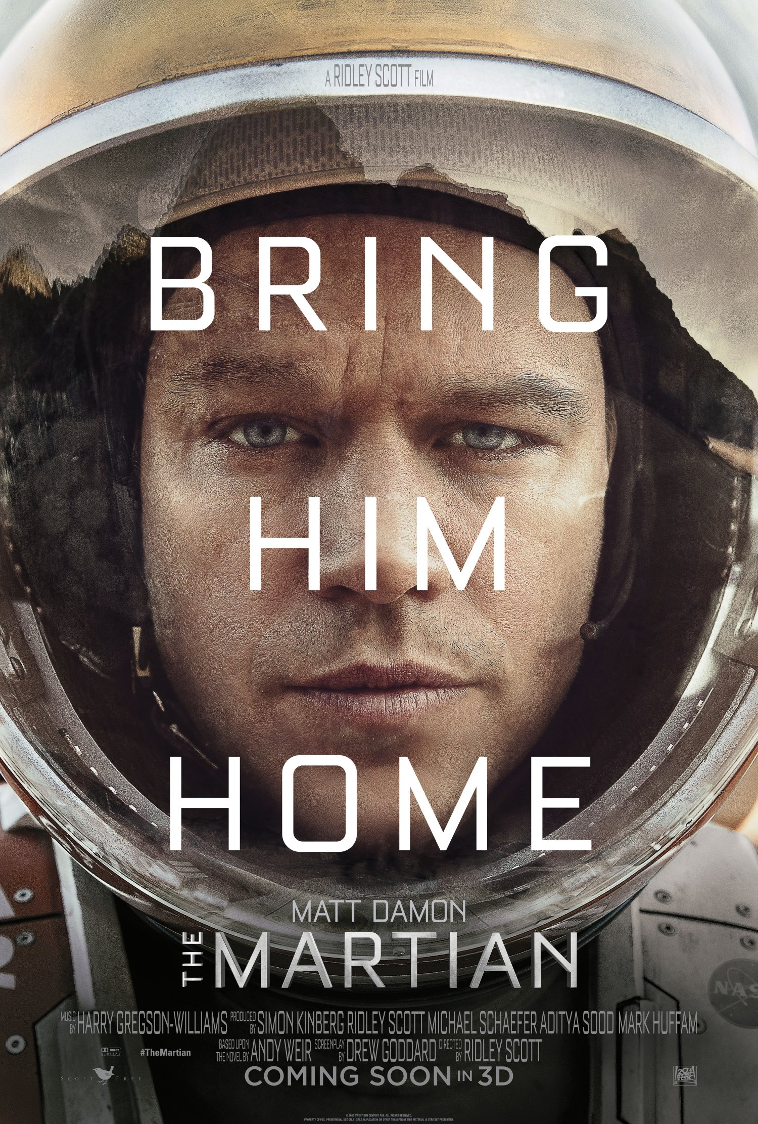 Bring him home – The Martian Teaser One Sheet