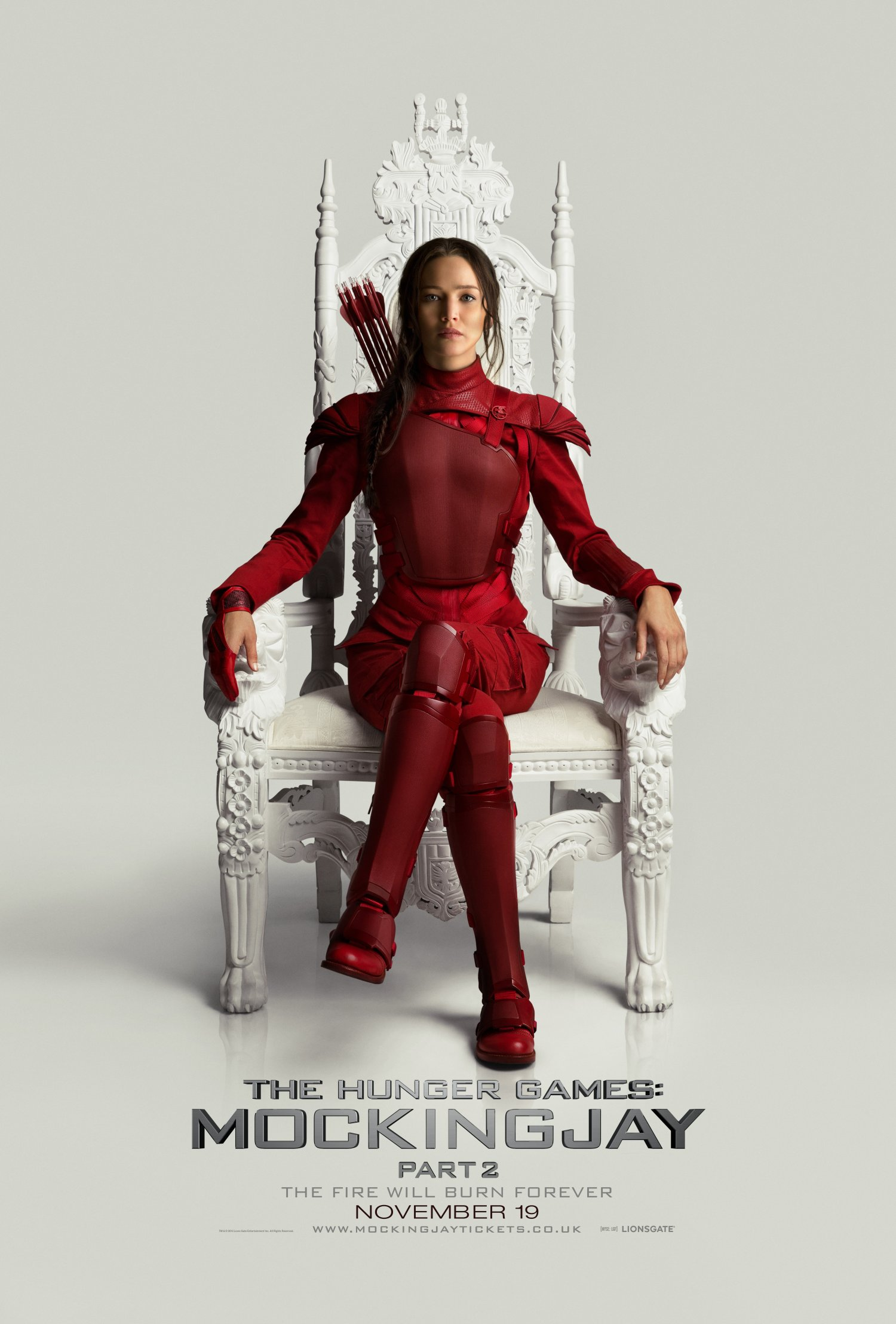 The Revolution is here with Katniss on the Throne poster