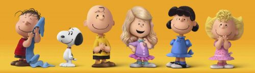 Meghan Trainor and the Peanuts gang