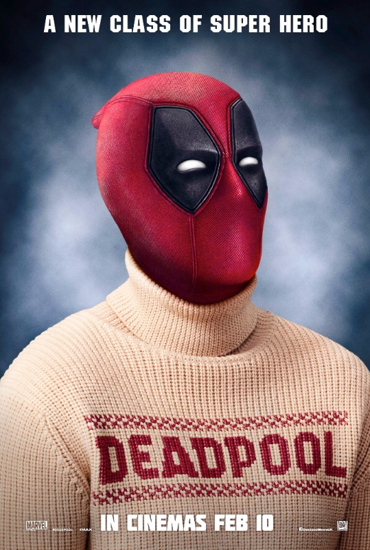 Deadpool Christmas jumper poster