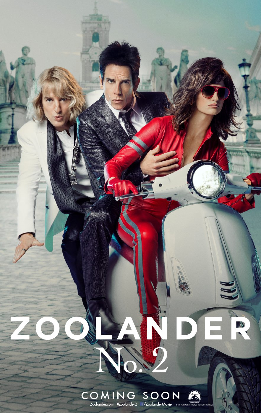 Zoolander 2 Scooter poster