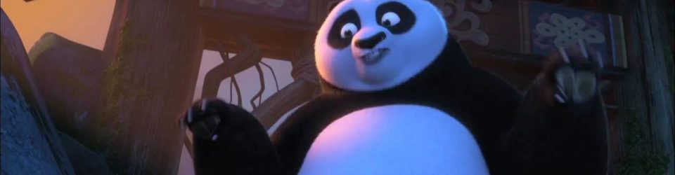 Kai and Po meet at Panda Village