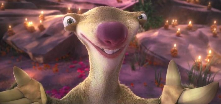 Sid Proposes in Ice Age: Collision Course