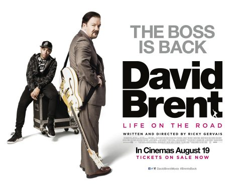 David Brent Back on the Road final quad poster