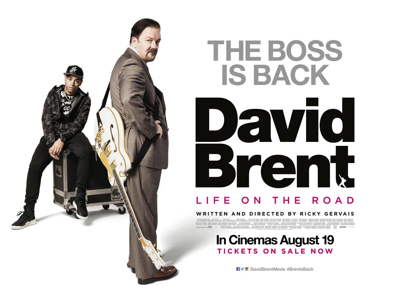 David Brent Back on the Road final quad poster