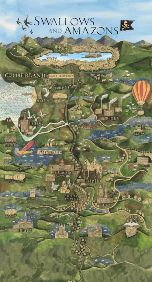 UK Swallows and Amazons map