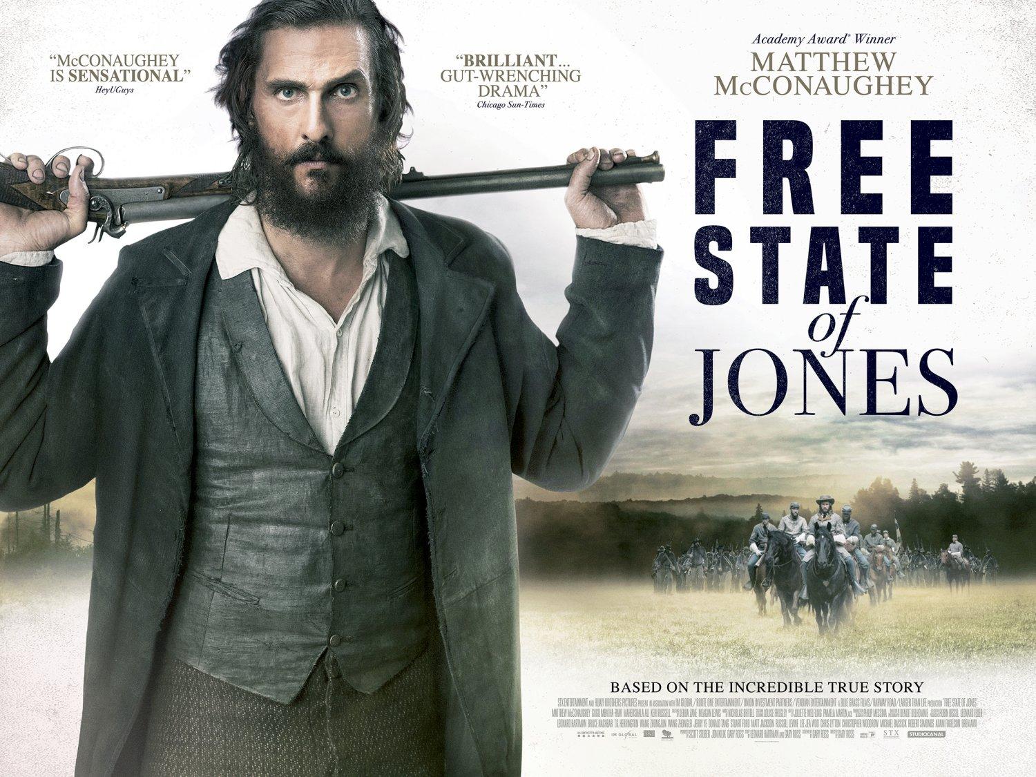 Free State of Jones quad poster