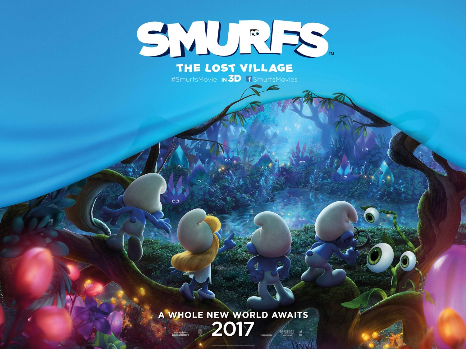 Smurfs – The lost village teaser poster