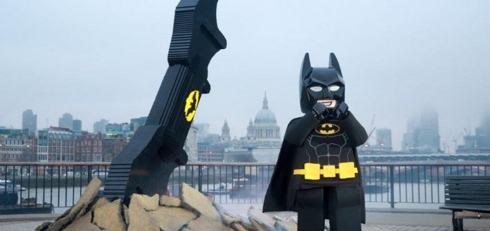 LEGO Batarang Crashes onto the Bank of the Thames