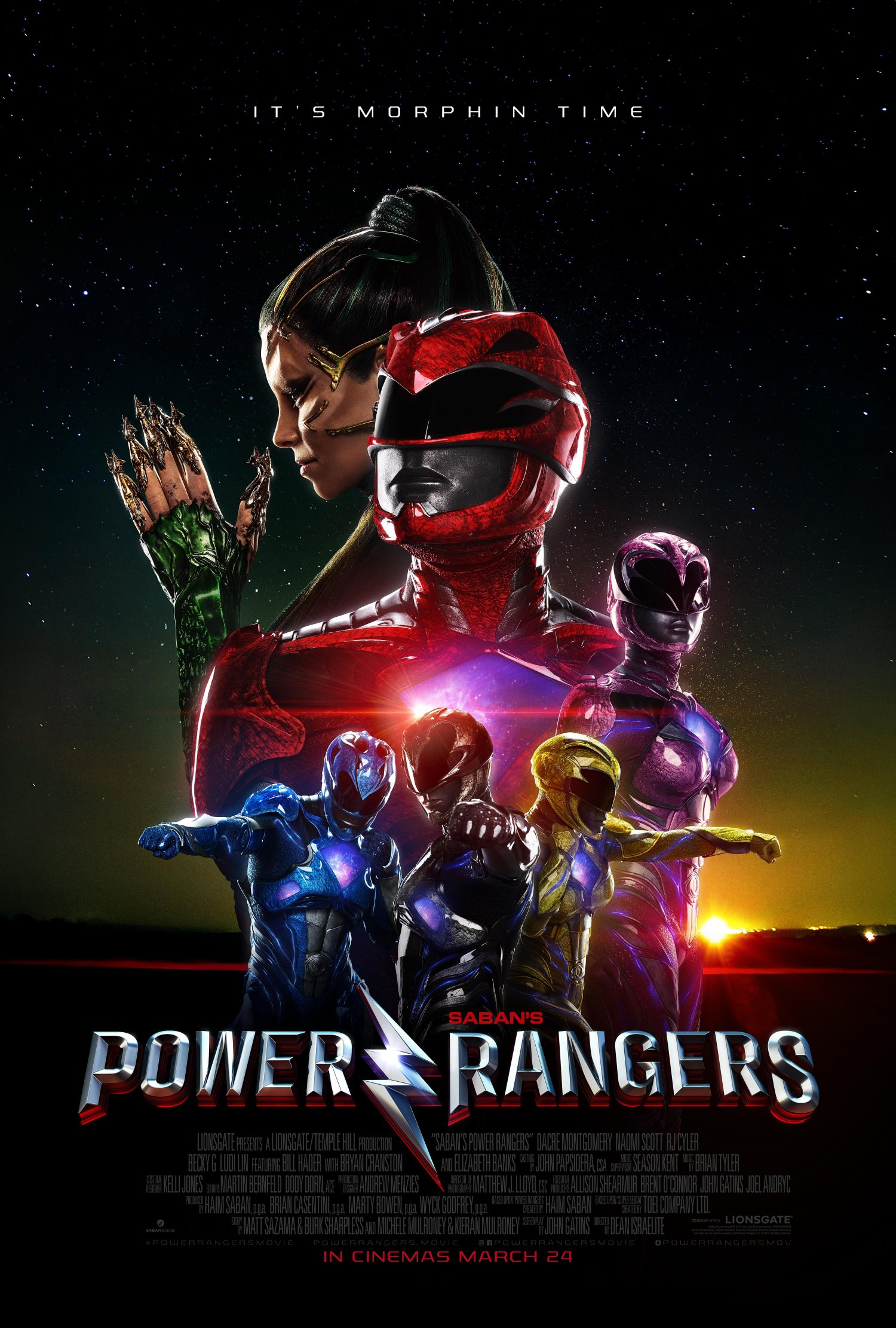 The Power Rangers and Rita poster
