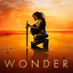 Wonder Woman beach poster