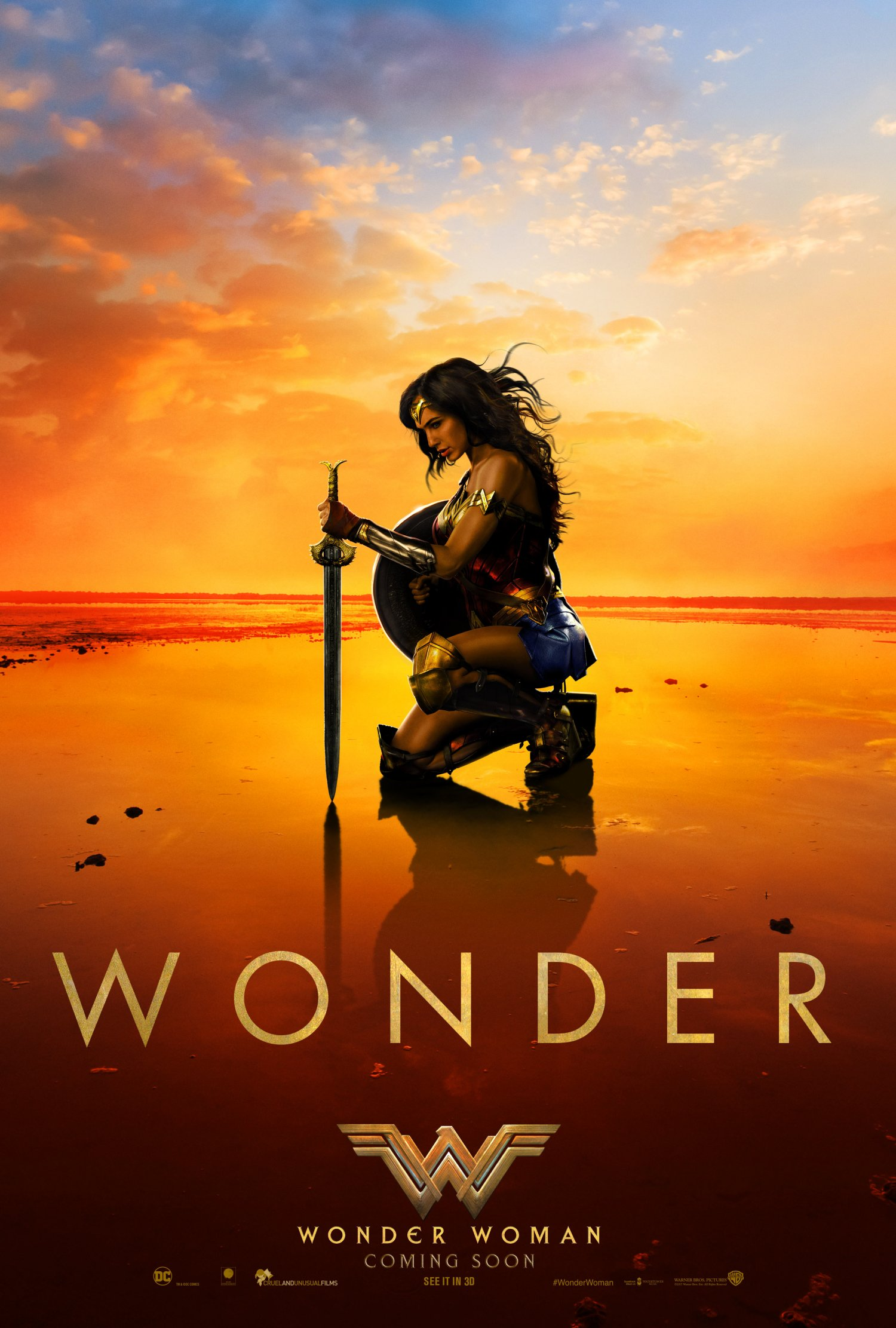 Wonder Woman beach poster