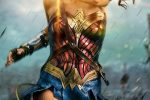 Wonder Woman deflecting bullets