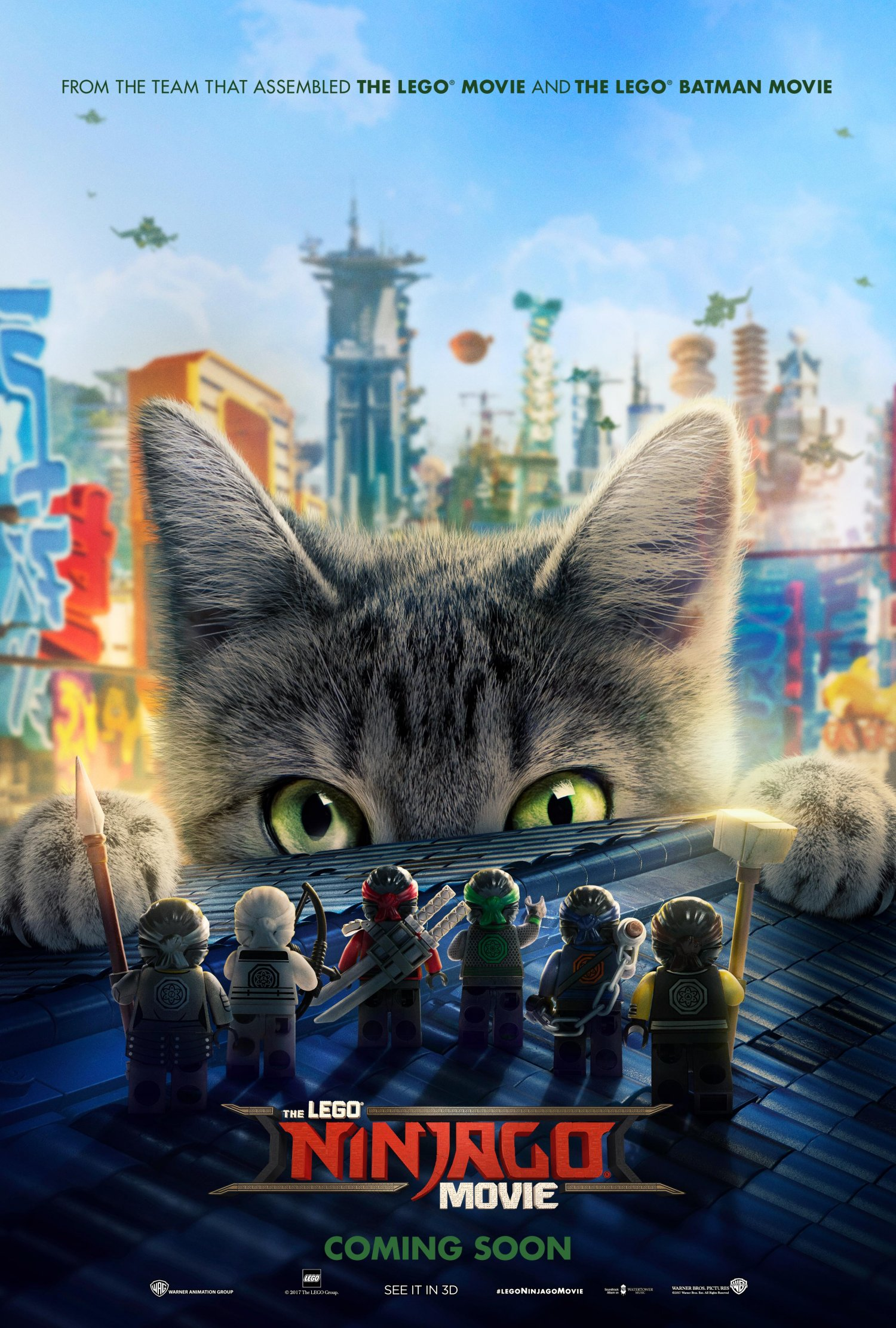 LEGO Ninjago Movie cat poster