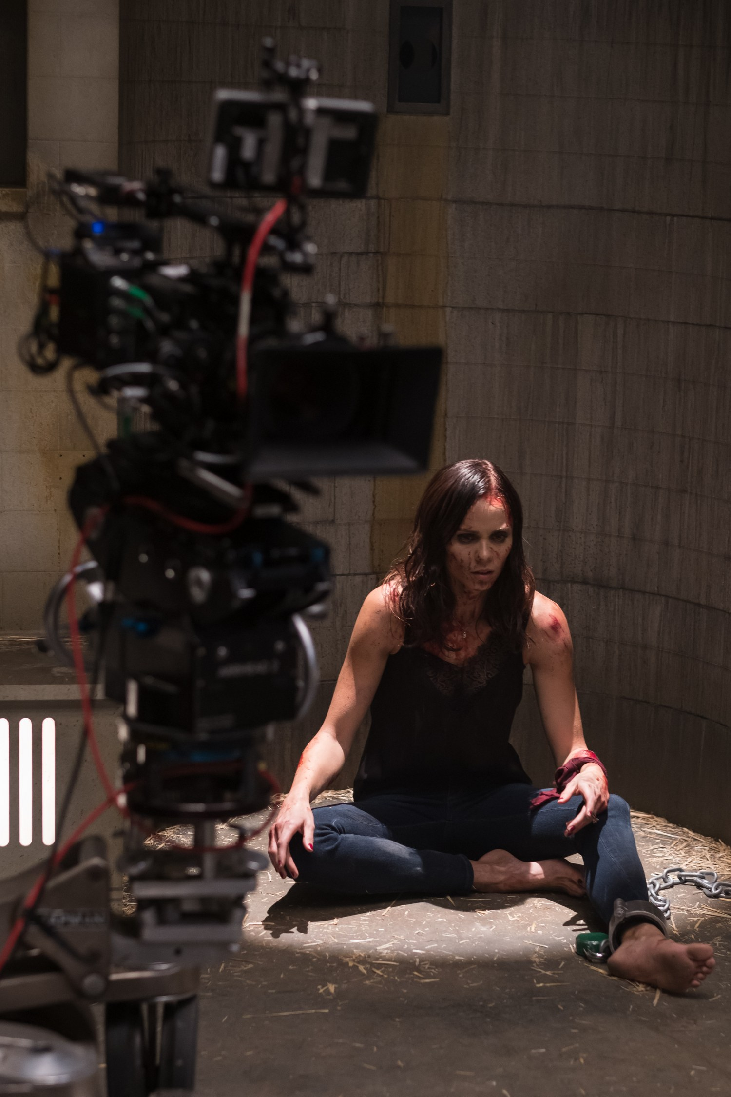 Laura Vandervoort On The Set Of JIGSAW Photo By Brooke