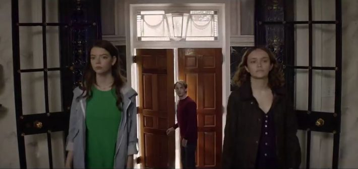 Riding into murder with the Thoroughbreds trailer