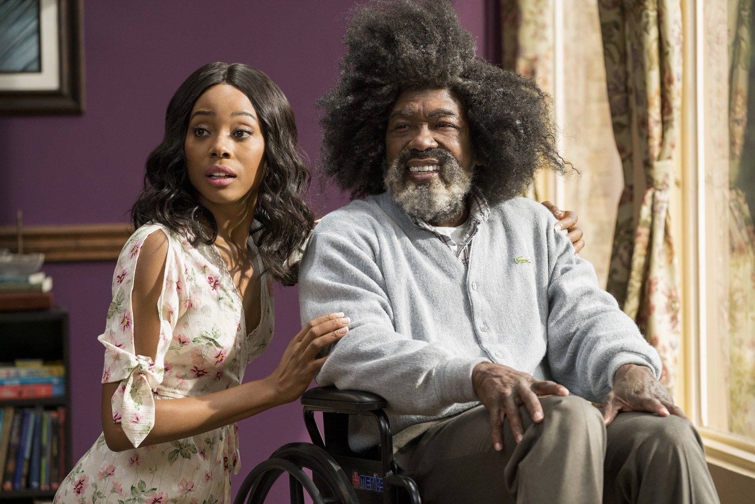 "Erica Ash as ""Maya"" and Nate Robinson as ""Boots"" in UNCLE DREW. ÿ"