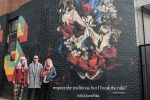 Mural inspired by Alexander McQueen unveiled in East London