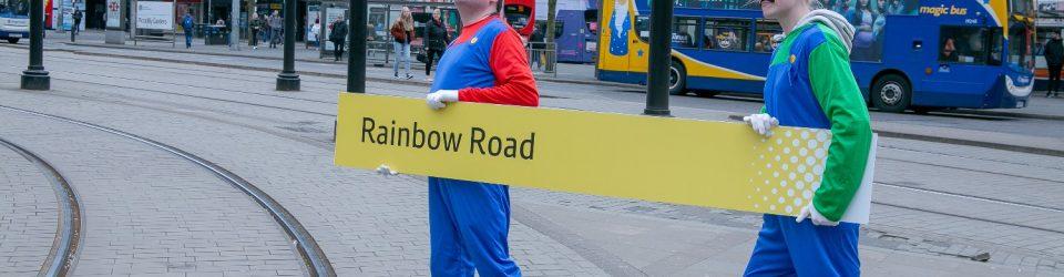 Next stop Rainbow Road
