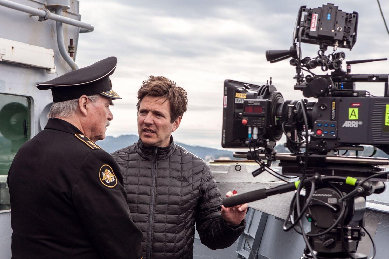 Thomas Vinterberg on the set of Kursk – The Last Mission