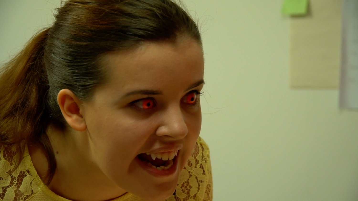 Alicia bares her fangs