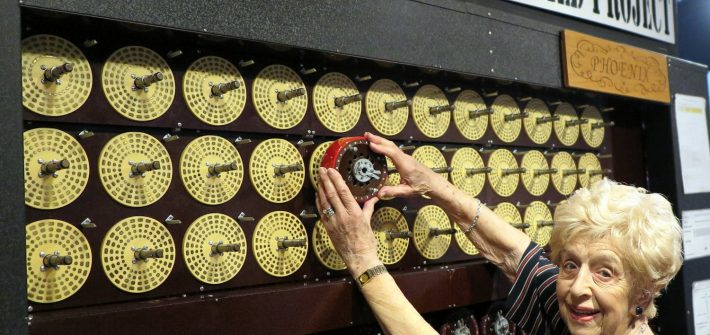 Enigma machine unveiled by Bombe veteran on Bombe Gallery anniversary