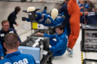 Shaun in space!