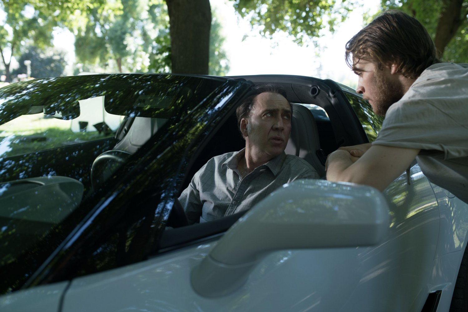Nicholas Cage and Noah Le Gros in A Score to Settle (Lionsgate UK) (01)