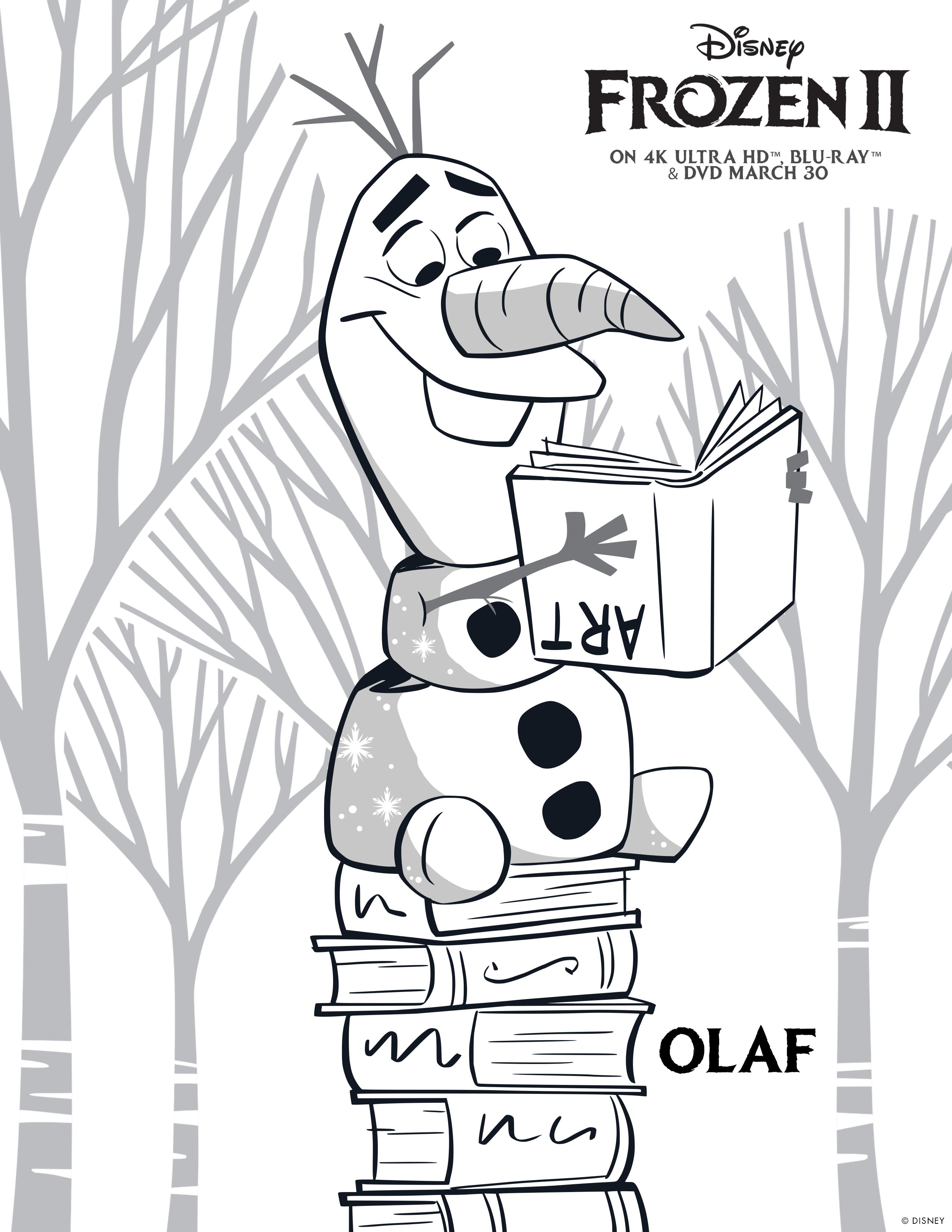 OLAF COLOURING MARCH 30